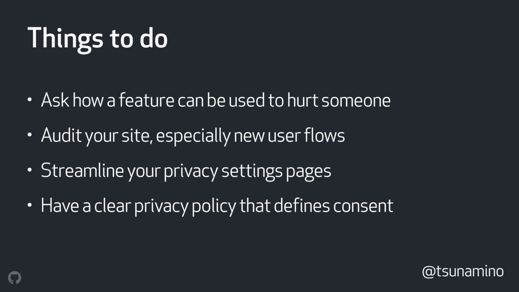 Things to do • Ask how a feature can be used to...