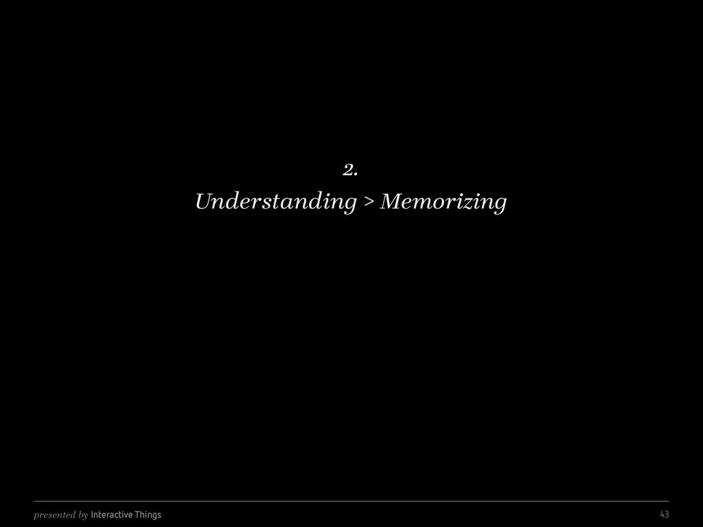 presented by Interactive Things 2. Understandin...