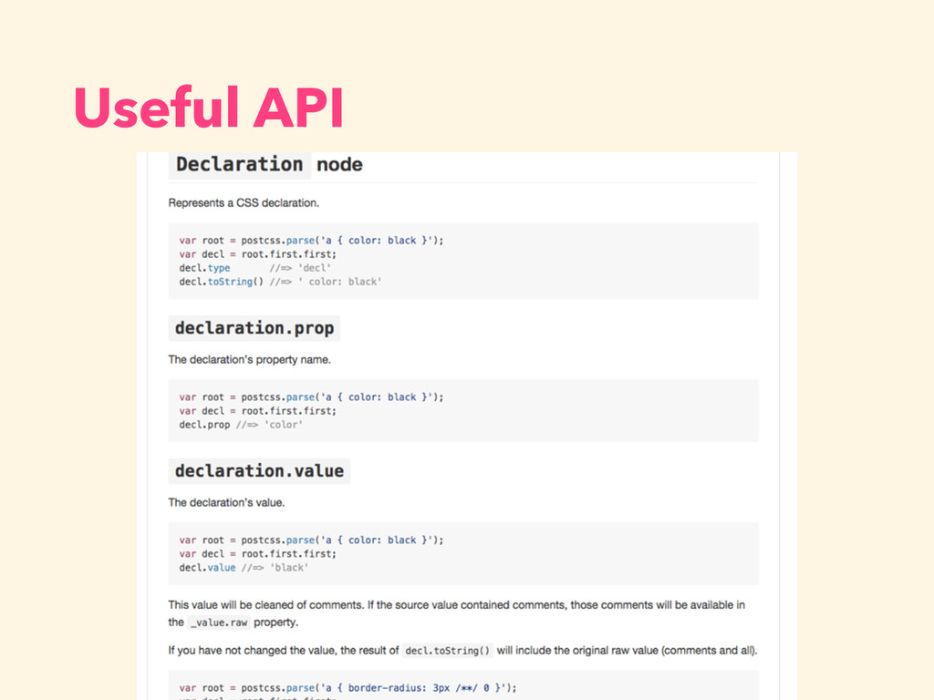 Useful API