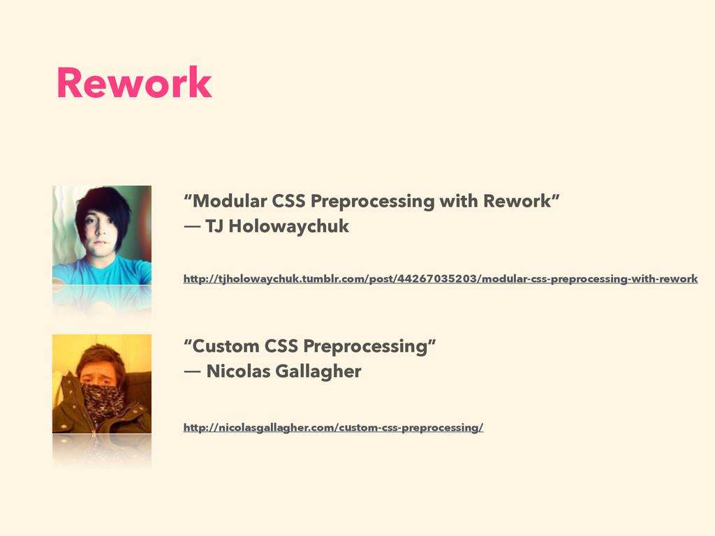 "Rework ""Modular CSS Preprocessing with Rework"" ..."