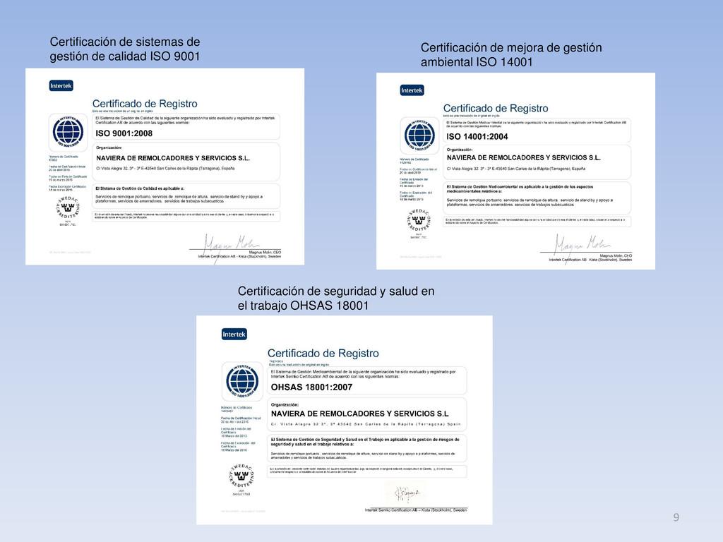 Certificación de sistemas de gestión de calidad...