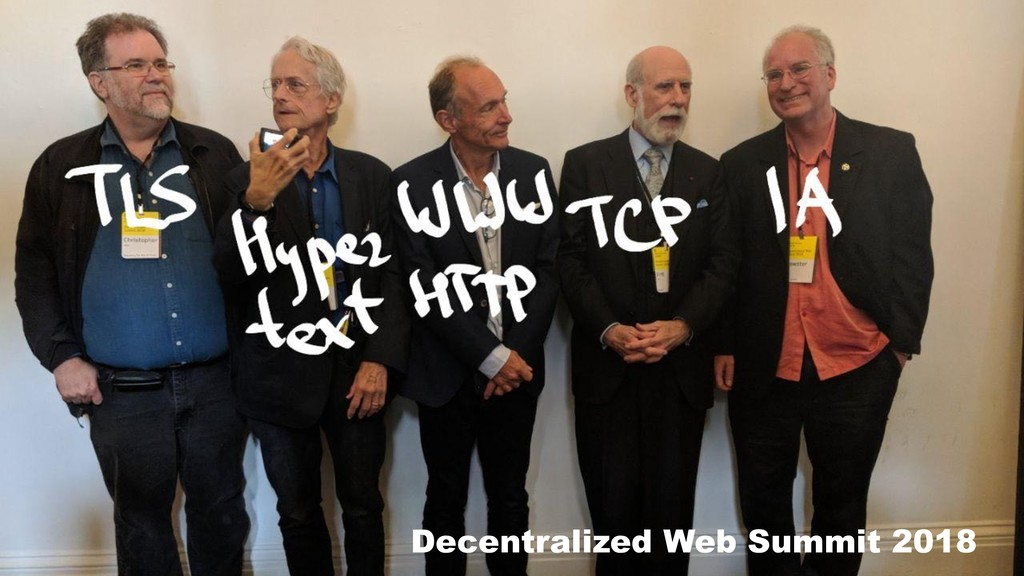 Decentralized Web Summit 2018