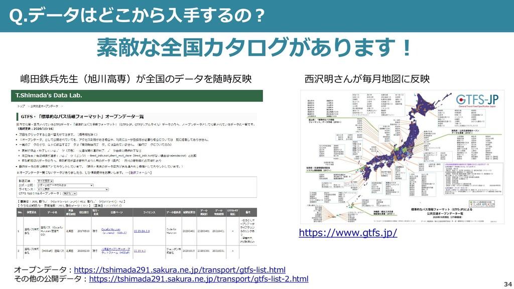 Q.データはどこから入手するの? 34 素敵な全国カタログがあります! オープンデータ:htt...