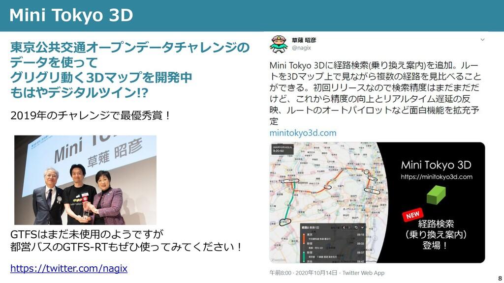 8 Mini Tokyo 3D https://twitter.com/nagix 東京公共交...