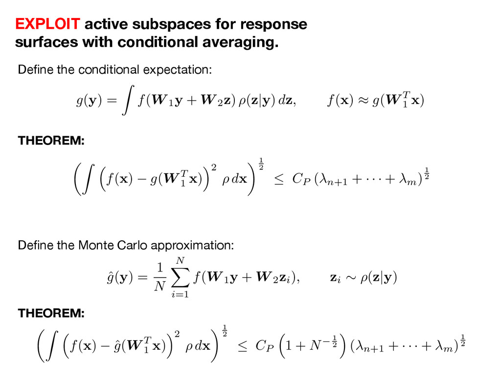 Define the conditional expectation:
