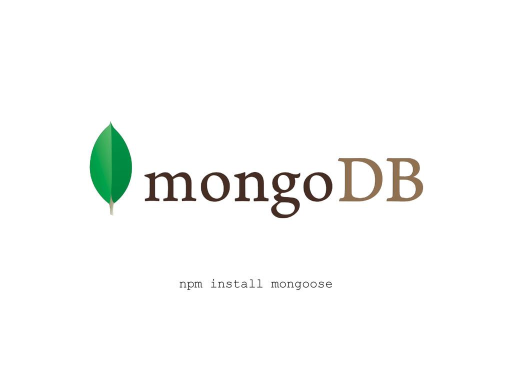 npm install mongoose