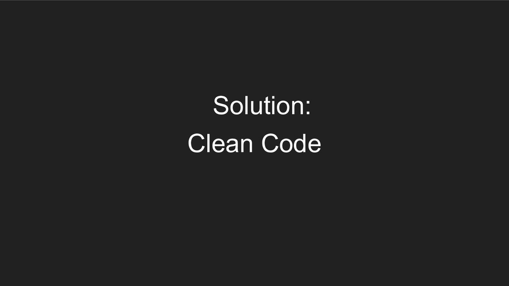 Clean Code Solution: