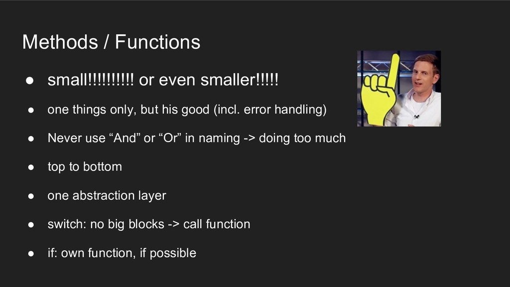 Methods / Functions ● small!!!!!!!!!! or even s...