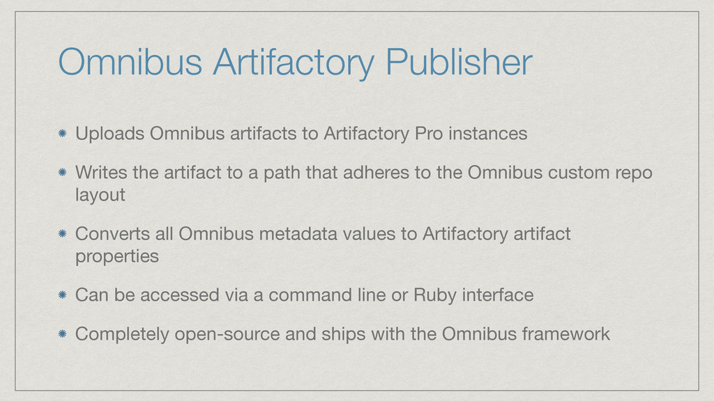 Omnibus Artifactory Publisher Uploads Omnibus a...