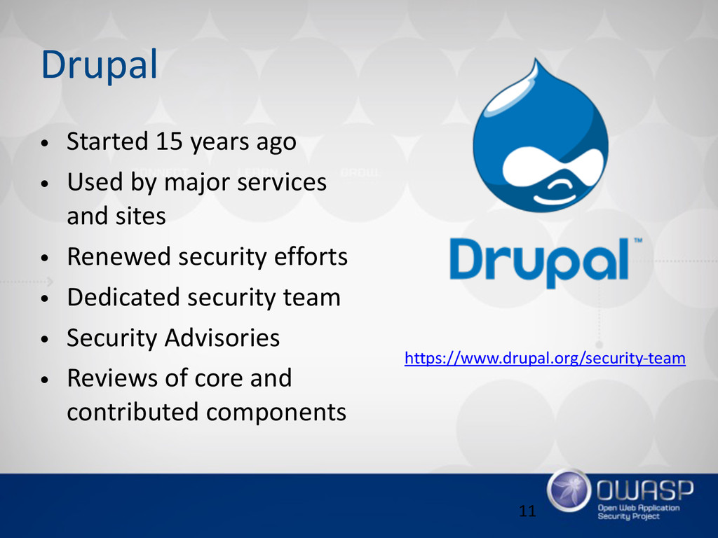Drupal • Started 15 years ago  • Used by ...