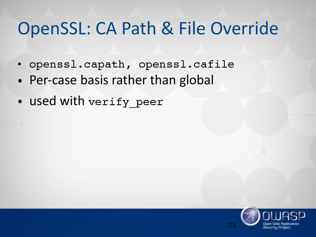 OpenSSL: CA Path & File Override • openssl...