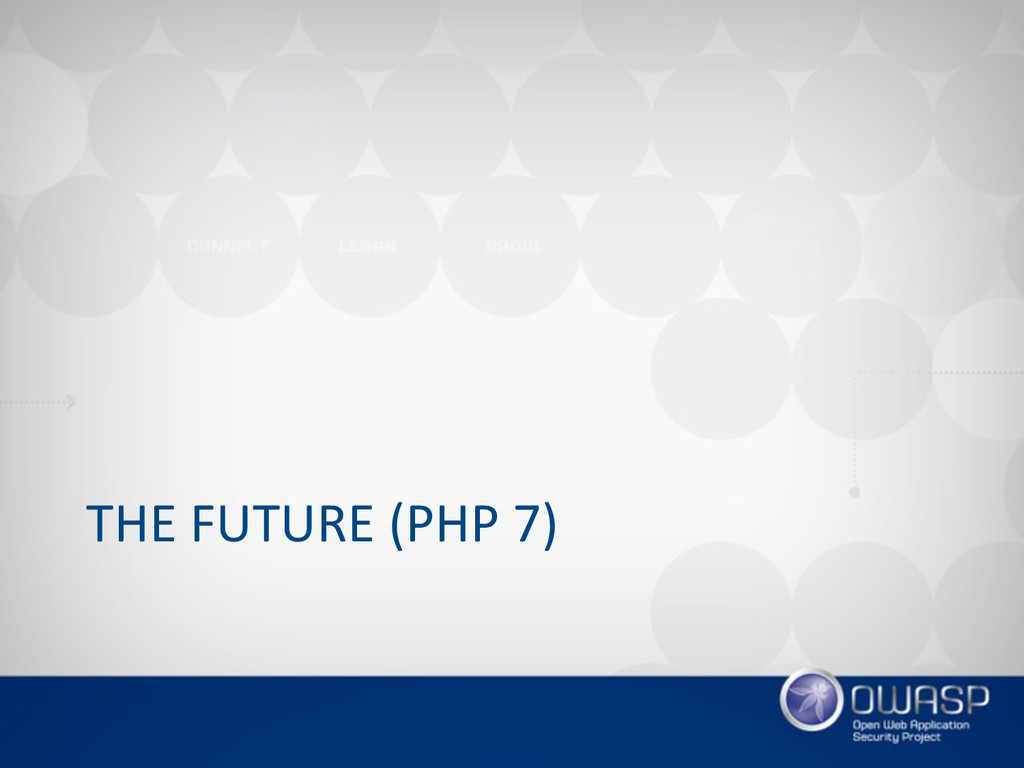 THE FUTURE (PHP 7)