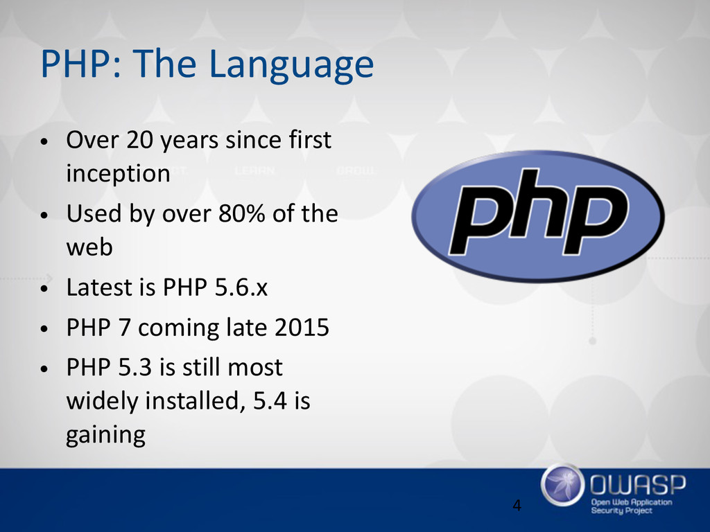 PHP: The Language • Over 20 years since f...