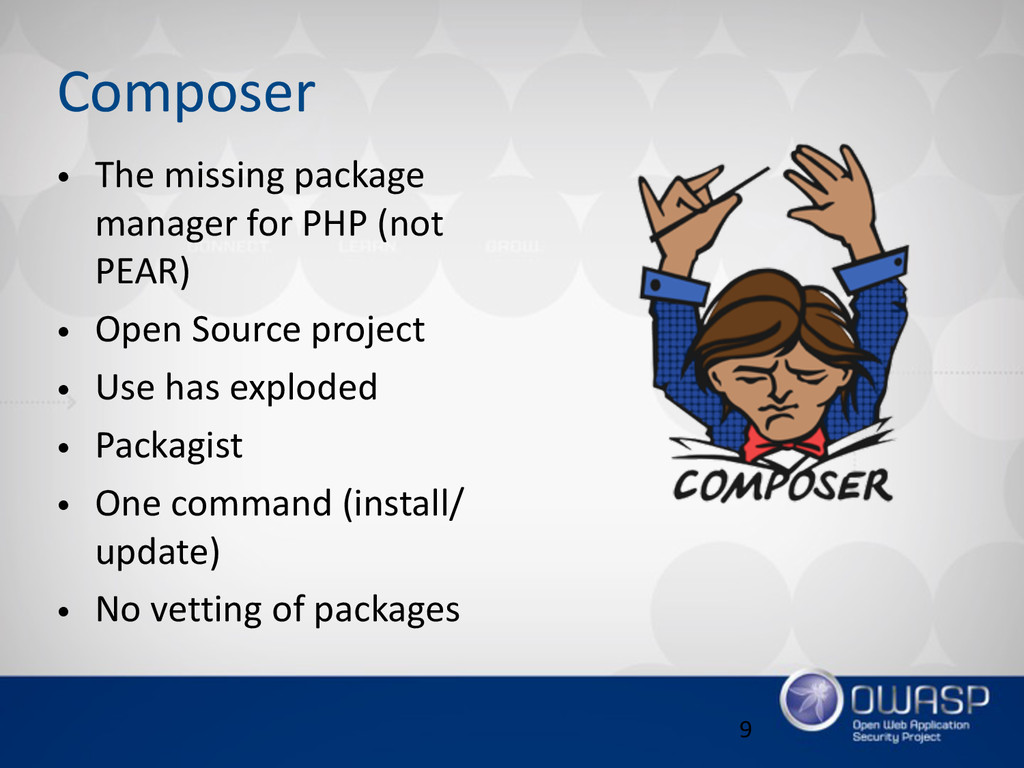 Composer • The missing package  manager for...
