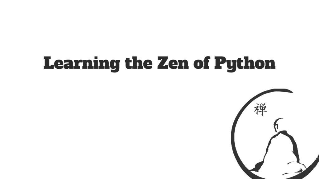 Learning the Zen of Python