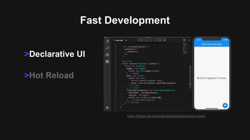 >Declarative UI >Hot Reload Fast Development ht...