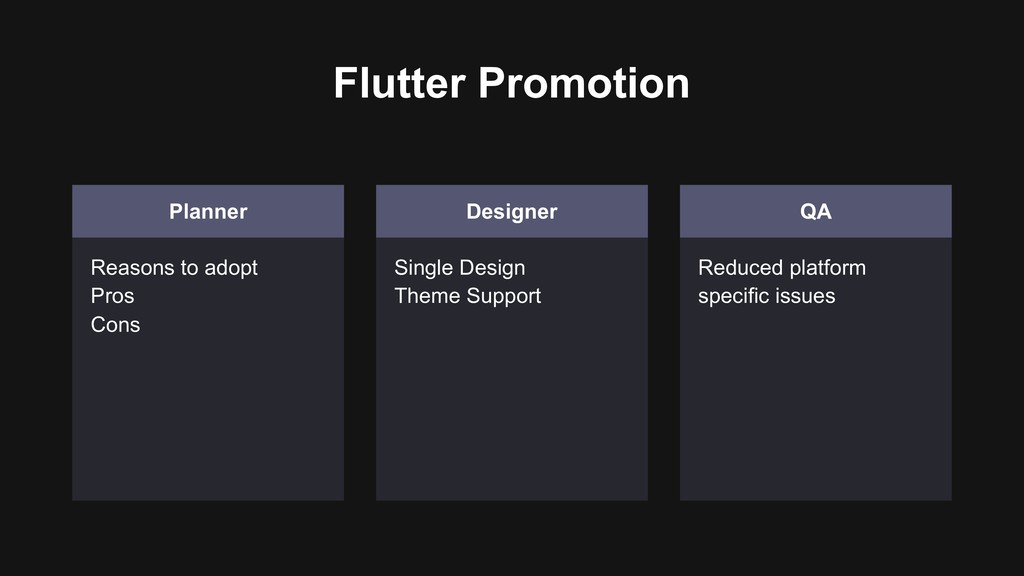 Flutter Promotion Planner Reasons to adopt Pros...