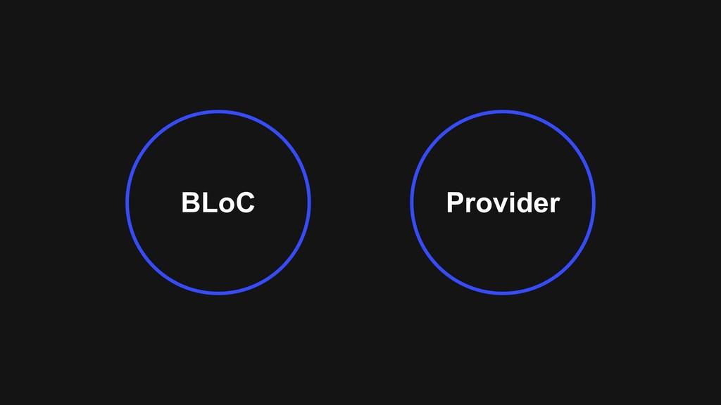 Provider BLoC