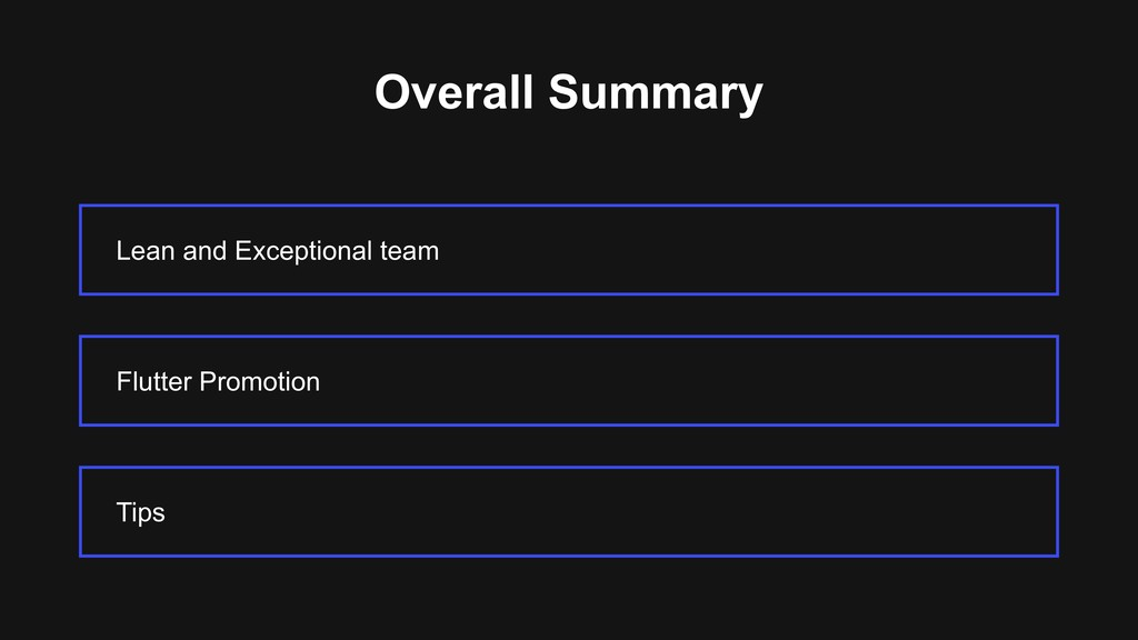 Overall Summary Lean and Exceptional team Tips ...