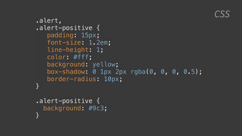 CSS .alert, .alert-positive { padding: 15px; fo...