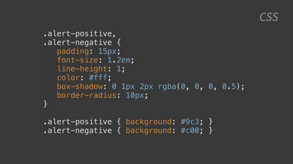 CSS .alert-positive, .alert-negative { padding:...