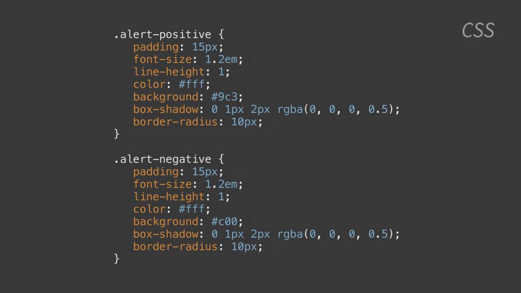 CSS .alert-positive { padding: 15px; font-size:...