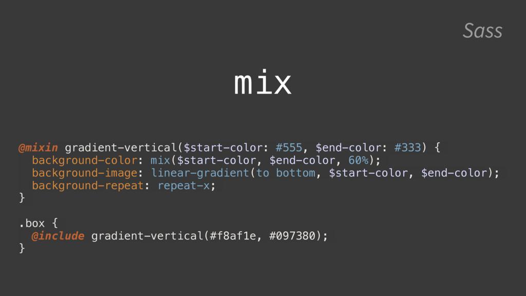 Sass @mixin gradient-vertical($start-color: #55...