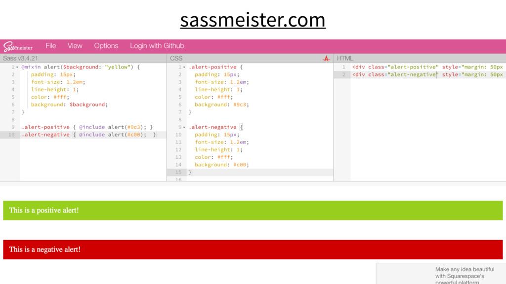 sassmeister.com