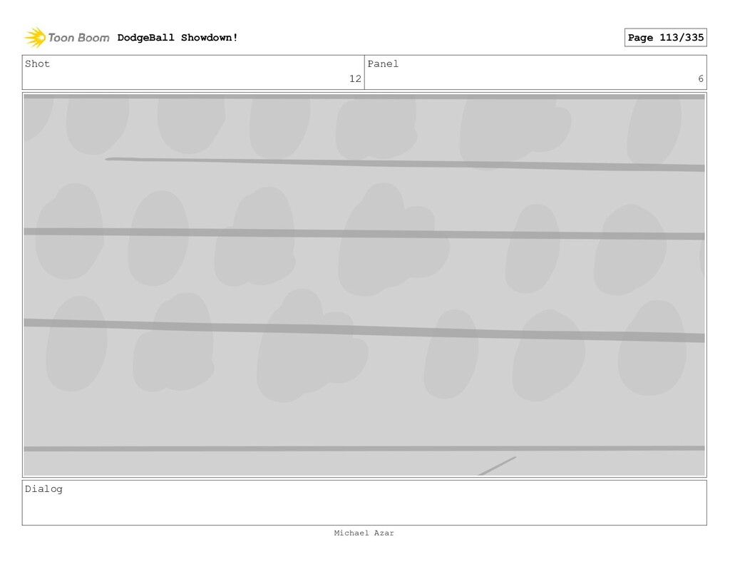 Shot 12 Panel 6 Dialog DodgeBall Showdown! Page...