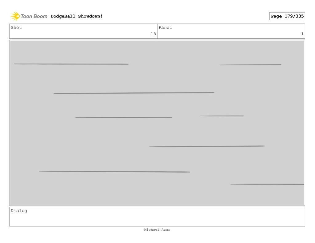 Shot 18 Panel 1 Dialog DodgeBall Showdown! Page...