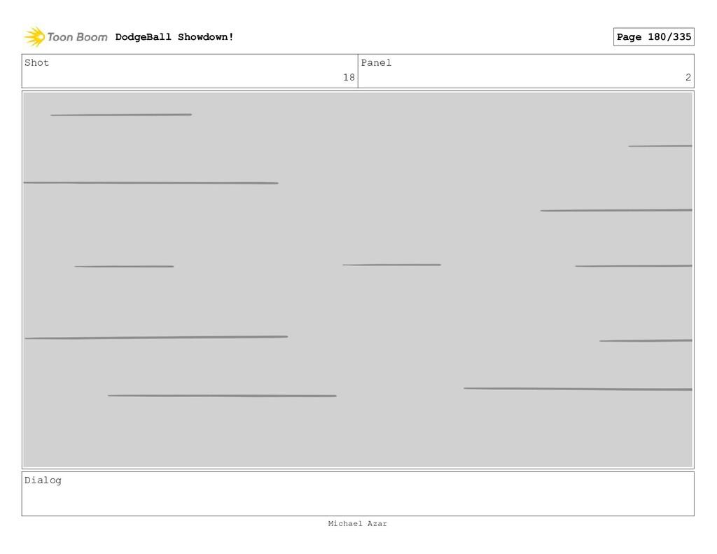 Shot 18 Panel 2 Dialog DodgeBall Showdown! Page...