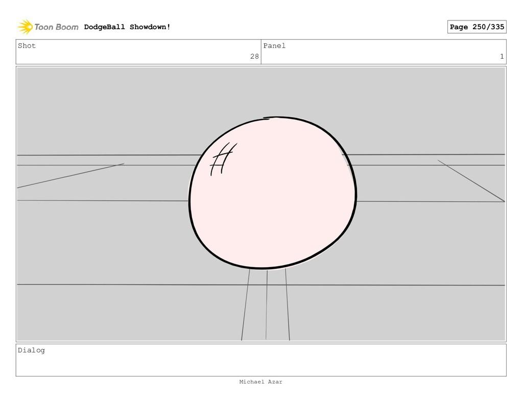 Shot 28 Panel 1 Dialog DodgeBall Showdown! Page...