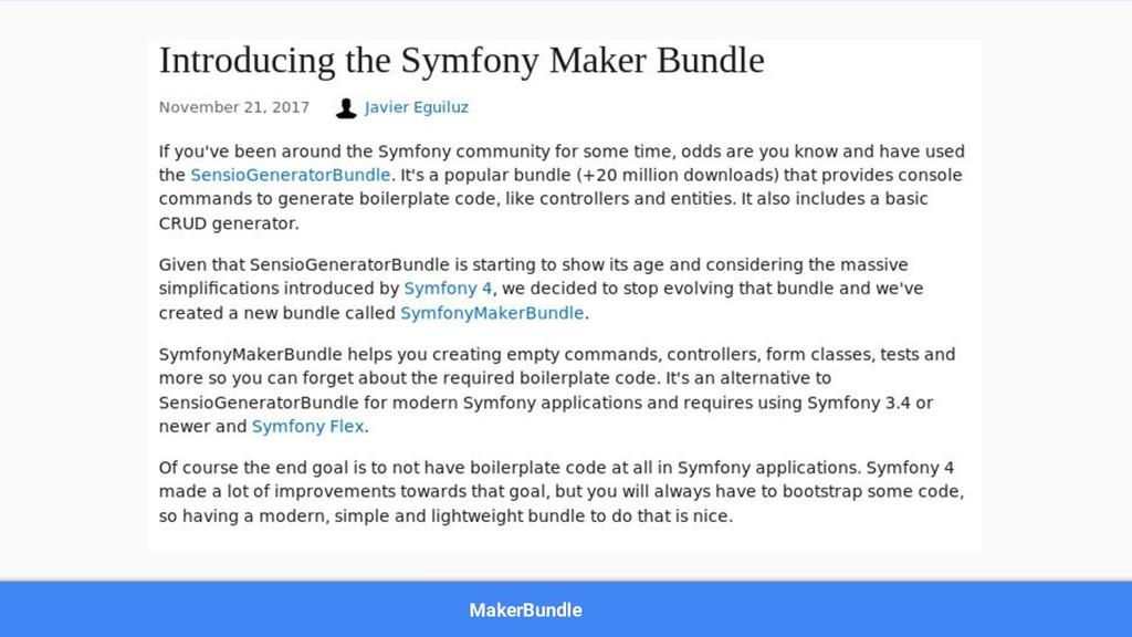 MakerBundle
