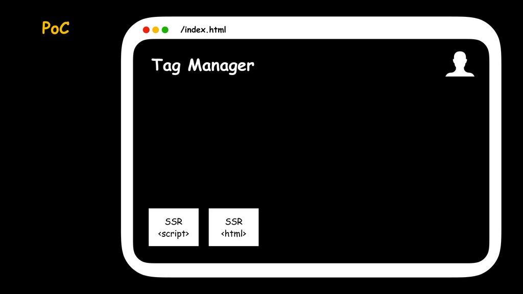 SSR <html> SSR <script> Tag Manager /index.html...