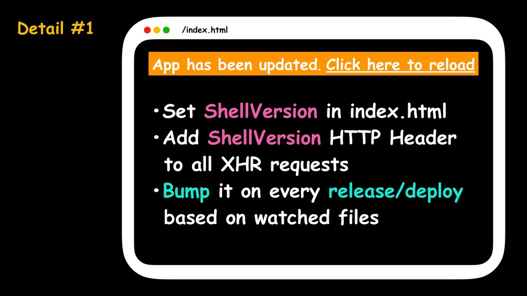 Detail #1 /index.html App has been updated. Cli...