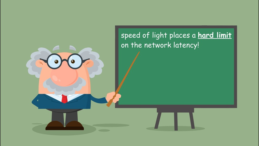 speed of light places a hard limit on the netw...