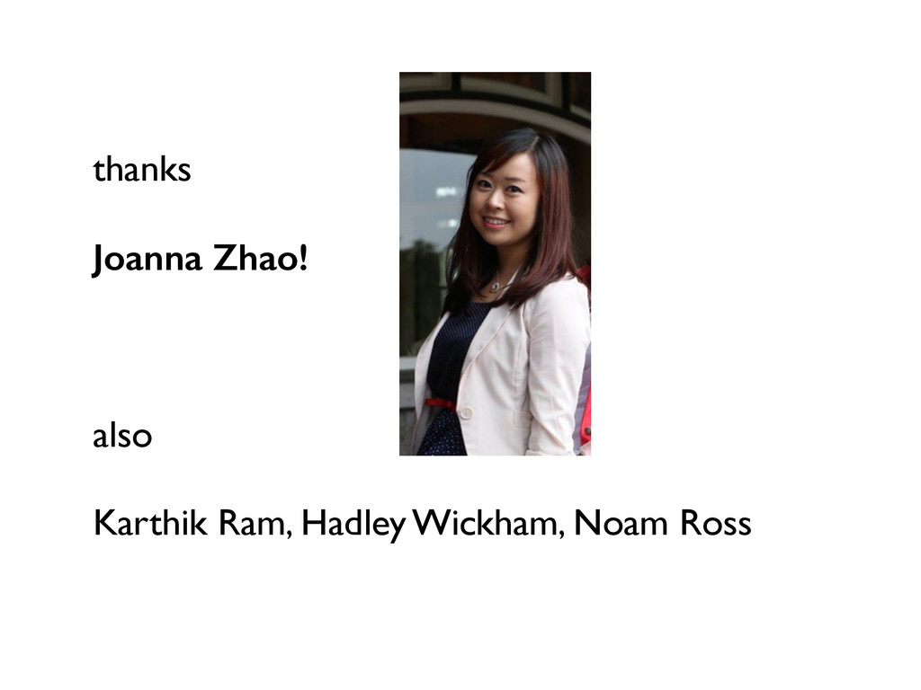 thanks Joanna Zhao! also Karthik Ram, Hadley Wi...