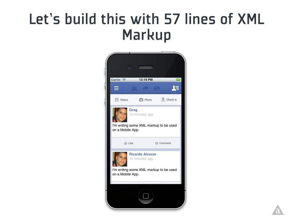 Let's build this with 57 lines of XML Markup