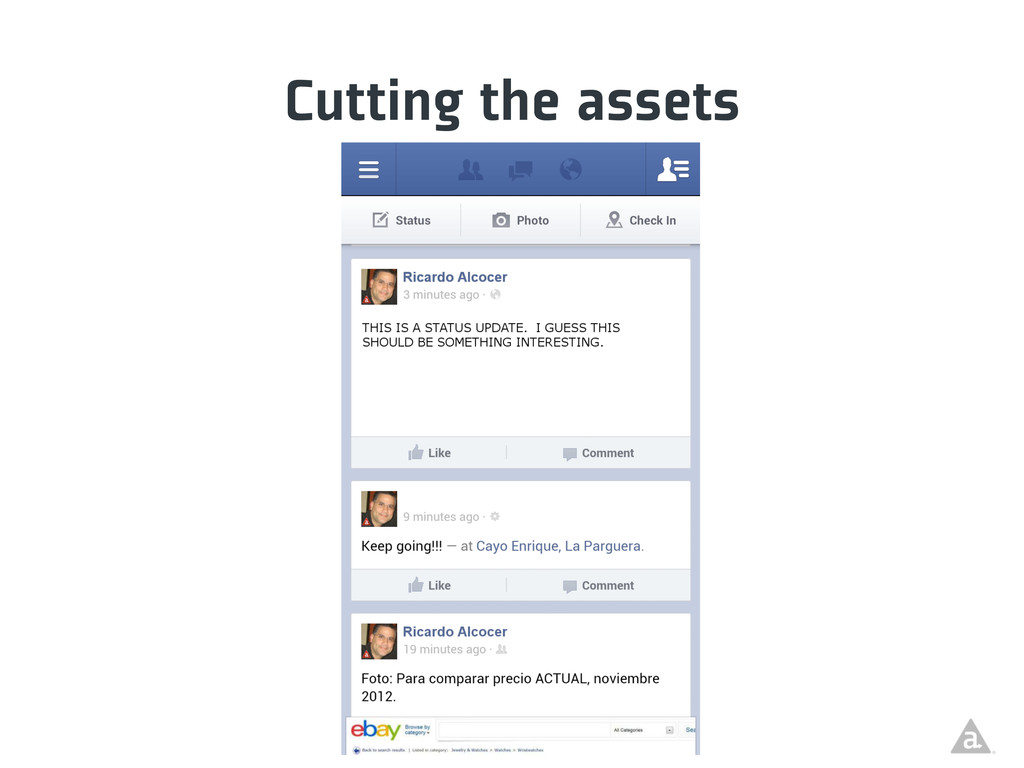 Cutting the assets