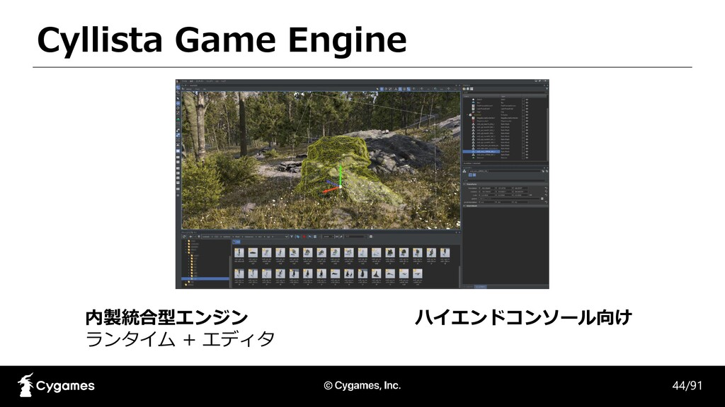 Cyllista Game Engine 内製統合型エンジン ランタイム + エディタ 44/...