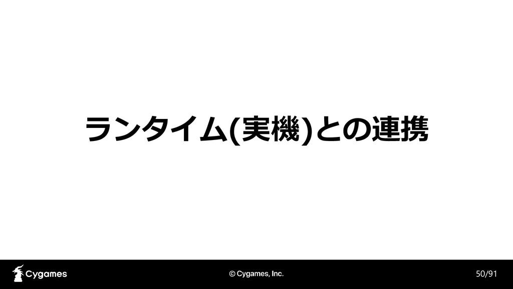 ランタイム(実機)との連携 50/91