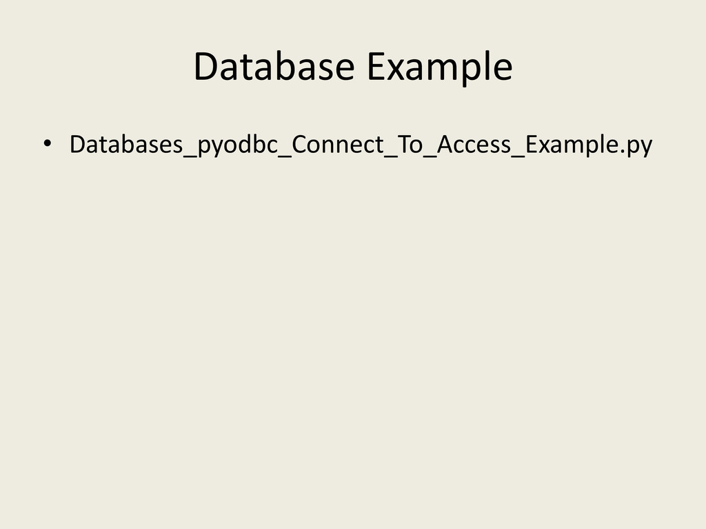 Database Example • Databases_pyodbc_Connect_To_...