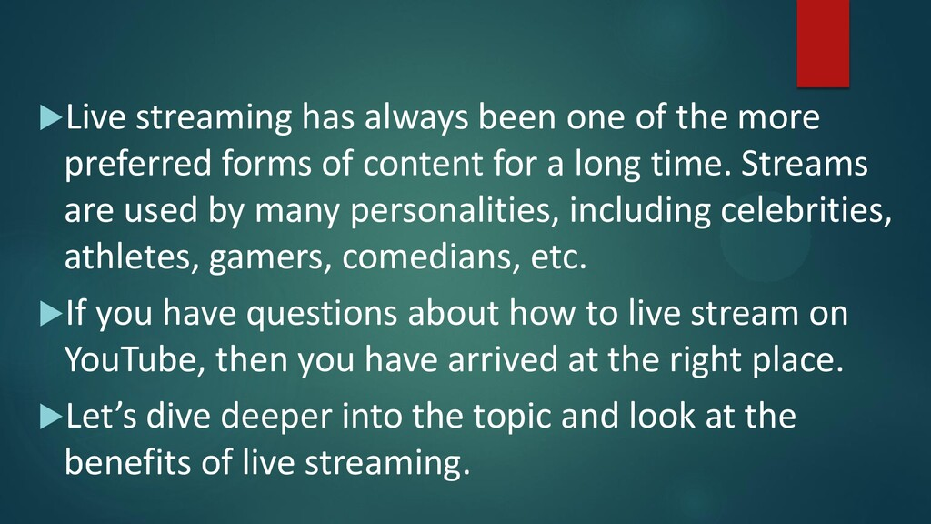 Live streaming has always been one of the more...