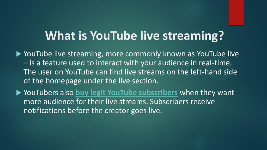 What is YouTube live streaming?  YouTube live ...