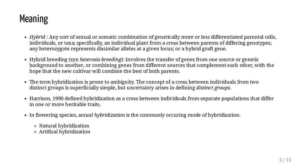 Meaning Hybrid : Any sort of sexual or somatic ...