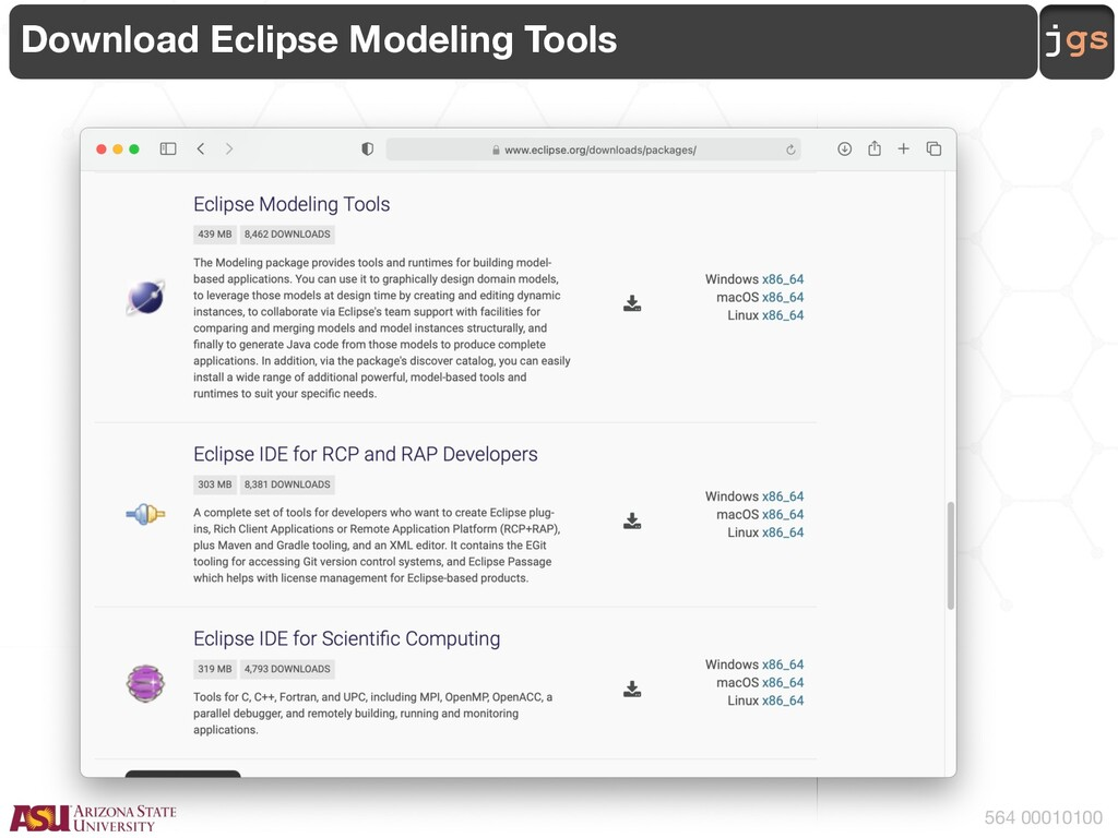 jgs 564 00010100 Download Eclipse Modeling Tools