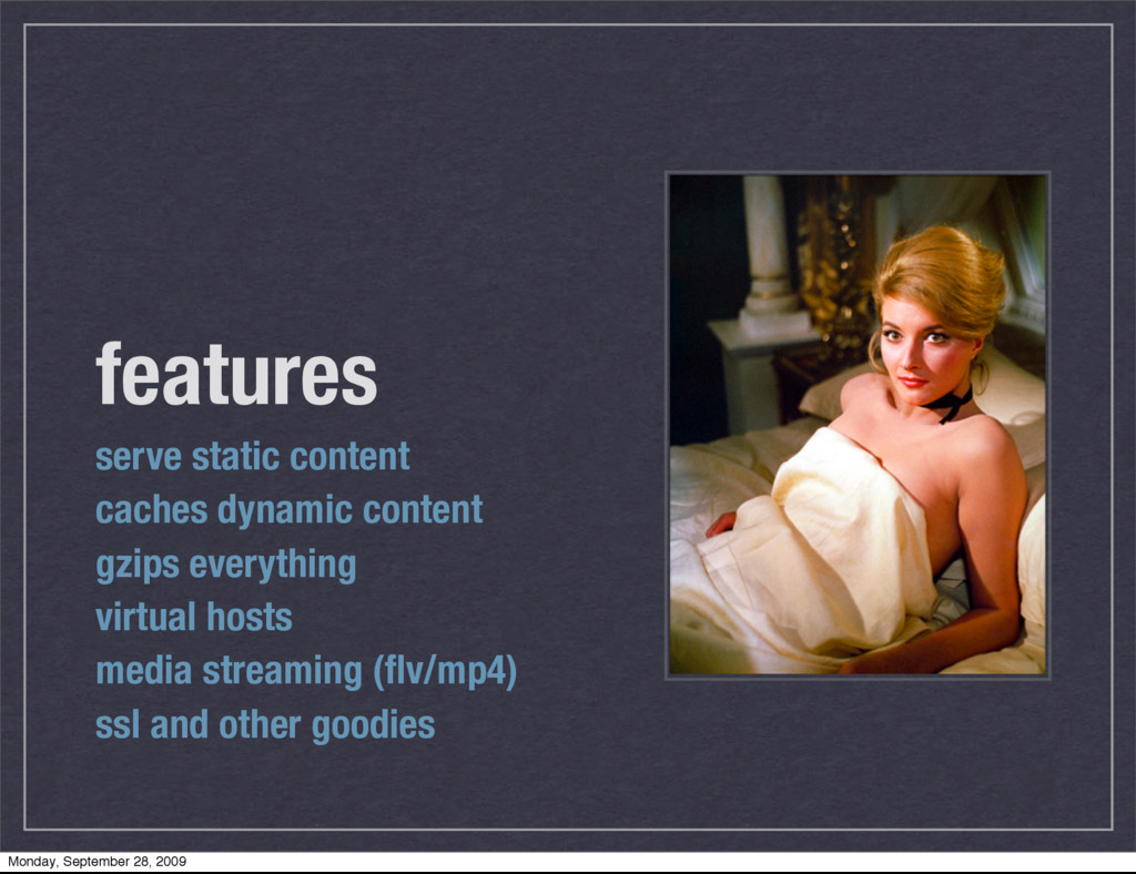 features serve static content caches dynamic co...