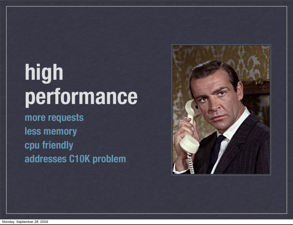 high performance more requests less memory cpu ...