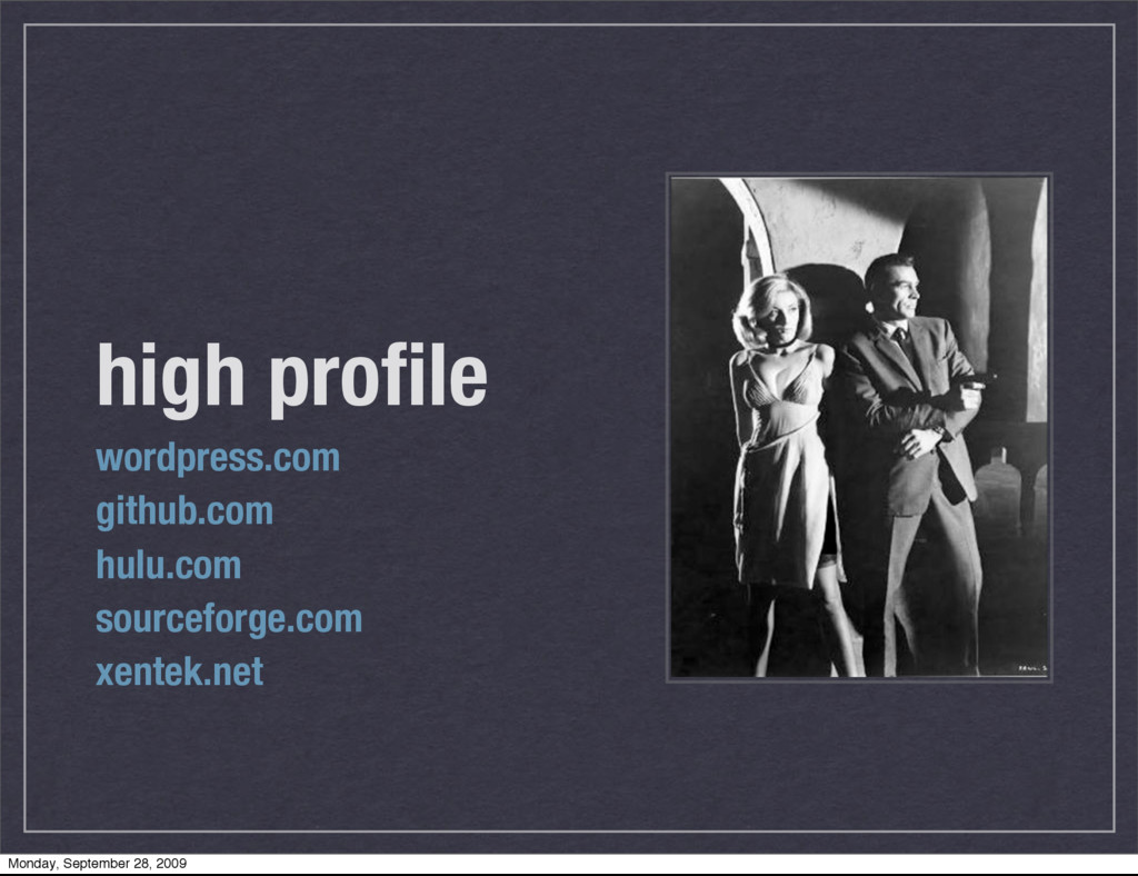 high profile wordpress.com github.com hulu.com s...