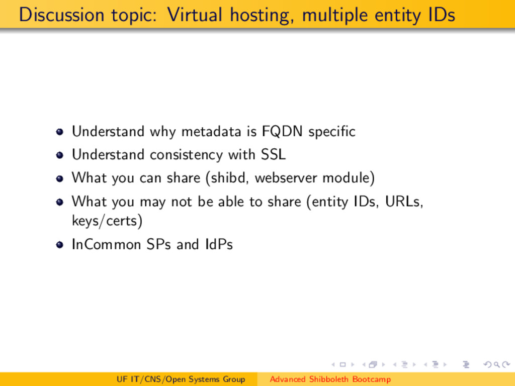 Discussion topic: Virtual hosting, multiple ent...